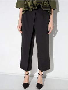 Black Wrap Crop Pants