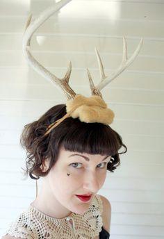 Deer Antler Headband  butterscotch with natural by doublespeak, $135.00