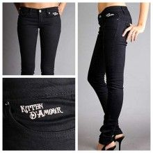 D'Amour Jeans High-Waist Skinny (Black) - $129.00
