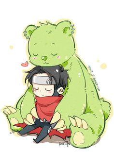 Billy and Teddy bear.