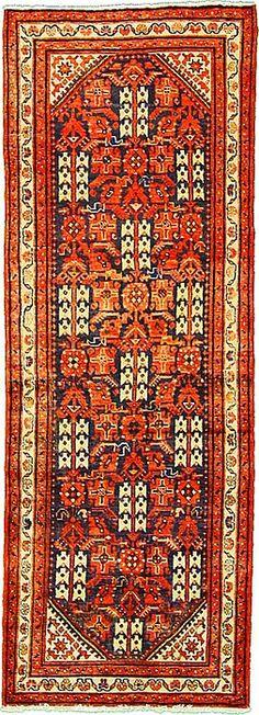 3' 7 x 10' 0 Navy Blue Malayer Persian Rugs