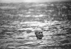 greta garbo. taking a swim.