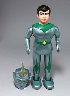 Bullmark Mirrorman. Battery Op tin toy/mandarake