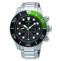 SEIKO Crono SSC615P1 Prospex Orologio da Polso Uomo Solare Acciaio #seiko #chrono #solar #powered #ssc615p1 #steel #green #men #watches