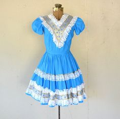 Square Dance Dress 1950's by IngridIceland on Etsy.