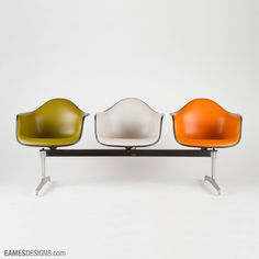 Eames Tandem Shell Seating | via eamesdesigns.com