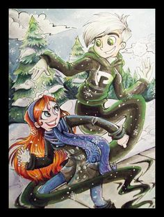 Commission: DP: Snowball Fight by *sharpie91 on deviantART