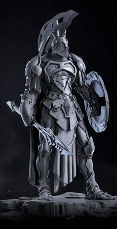 ArtStation - Ares, God of War, Alexei Popovici Fantasy Character Design, Character Concept, Character Art, Warrior Concept Art, Armor Concept, Cyberpunk, Armadura Medieval, Futuristic Armour, Knight Art
