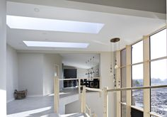 Flat fixed skylight inspiration as featured on grand designs Roof Lantern, Roof Light, Grand Designs, Flat Roof, Skylight, Lanterns, Orangery Extension, Ceiling Lights, Flats