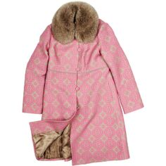 Екатерина Смолина Розовое пальто с меховым воротником found on Polyvore