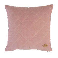 Cuscino decorativo in velluto di cotone rosa pompelmo diOilily.