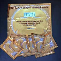 Shop Women's mym size OS Makeup at a discounted price at Poshmark. Description: This set includes 1 Bio Gold Collagen renewal mask and 6 sets of crystal collagen gold powder eye masks.. Sold by susanchau617. Fast delivery, full service customer support.