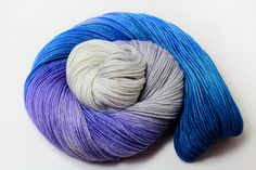 Blueberry Lavender Silver Leaf Tea DYED TO ORDER by GroovyHues