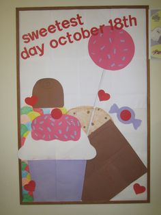 sweetest day library bulletin board