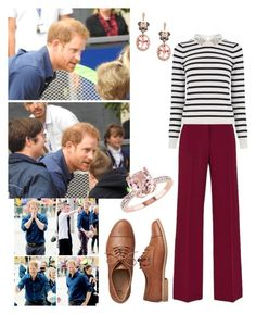 """""""HRH Prince Harry and Miss Amelia Dunn arriving at The National Ice Centre today on their visit to Nottingham"""" by theduchessofclarence on Polyvore featuring Mode, Oasis, Gap und Effy Jewelry"""