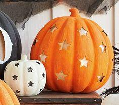 Pumpkin with Stars Luminaries | Pottery Barn Kids