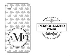Gray Whale Design w/Monogram by PersonalizedPro