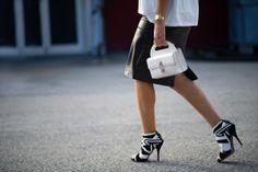 Gorgeous black and white stiletto heels for Spring 2014