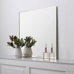 View Spegel 56x56cm, Mässing - by Lassen - by Lassen - RoyalDesign.se