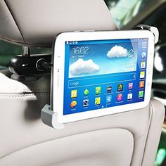 MFEEL Universal Durable Car Headrest Mount Holder Car Back Seat Holder for Apple iPad Air  iPad 4  iPad 3  iPad 2  iPad Mini2  iPad Mini and other Tablet PC GPS Car Headrest Mount Holder >>> For more information, visit image link.Note:It is affiliate link to Amazon.