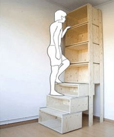 storage-and-organization-furniture-ladder-boxes-bookshelves-design