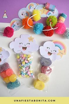 Ideas For Baby Shower Decoracion Arcoiris Cloud Party, Rainbow Birthday, Baby Birthday, Birthday Parties, Boy Baby Shower Themes, Baby Boy Shower, Party Kit, Student Gifts, Unicorn Party