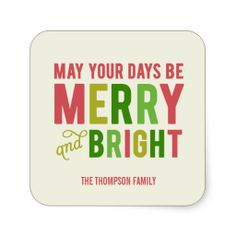 Shop Merry and Bright Holiday Stickers/Envelope Seal created by berryberrysweet. Merry Christmas And Happy New Year, Christmas Love, All Things Christmas, Christmas Themes, Christmas Holidays, Christmas Crafts, Happy Holidays, Xmas, Winter Words