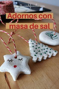 Adornos para el árbol de Navidad caseros Christmas Ornaments, Holiday Decor, Diy, Home Decor, Christmas Decor, Merry Christmas, Craft Stores, Crafts To Make, Homemade Playdough