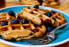 26 Healthy Summer Fruit Recipes **Blueberry Waffles**