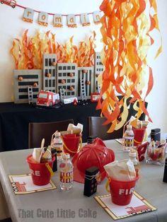 Firetruck, Fire Engine, Fireman, Firemen Birthday Party Ideas   Photo 1 of 11   Catch My Party #zulilybday
