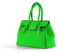 spotted at coterie - washable, neon neoprene italian made bag by leghila...