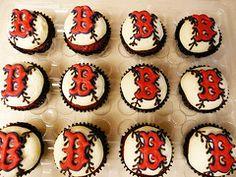 Boston Red Socks cupcakes