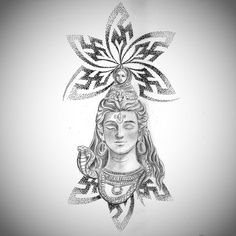Drew this up for Sagar today. He wants a Lord Shiva that will influence him to be Tranquil