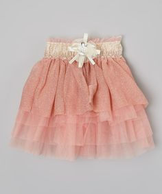 Look at this Kid Swag Light Pink Shimmer Skirt - Toddler & Girls on #zulily today!