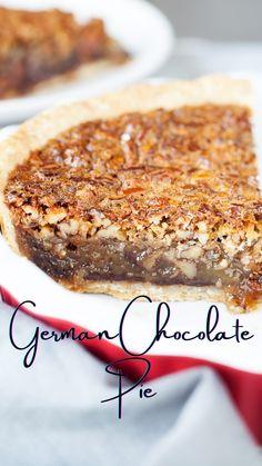 Sweet Desserts, Healthy Desserts, Delicious Desserts, German Chocolate Pies, Mini Chocolate Chips, Never Fail Pie Crust Recipe, Pie Recipes, Baking Recipes, Dessert Ideas