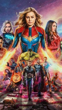 Avengers End Game team with captain marvel thor thanos mobile wallpaper - Marvel Universe Captain Marvel, Marvel Avengers, Marvel Comics, Avengers Film, Captain America, Avengers Fan Art, Avengers Poster, Comics Spiderman, Avengers Women