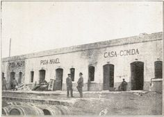 Puda Can Manel in 1902. Still the best place to get a paella in Barceloneta (now on Passeig Joan de Borbó, 60-61).
