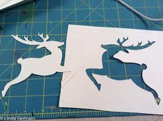 Stencil silhouette for quick printmaking