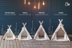 Modern Cat Bed or Dog Bed: Cat Teepee or Dog Teepee from Cotton with Pom Pom Decor – embroidered baby pillow Cat Teepee, Teepee Tent, Pet Beds, Dog Bed, Puf Grande, Aspen Wood, Decoration Piece, Baby Pillows, Cabana