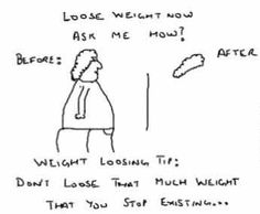 Funny weight loss cartoon. ---------- http://www.easy-fat-loss-diet.info