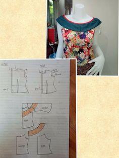 Clothing Patterns, Dress Patterns, Sewing Patterns, Sabrina Dress, Fashion Vocabulary, Pattern Drafting, Types Of Collars, Fashion Sewing, Pattern Making