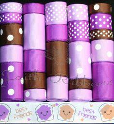 Grosgrain Ribbon Lot Mix 25YDS Best Friends by FaithRibbonsDotCom