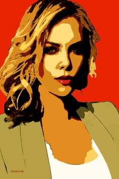 23-POP Art. Charlize Theron II.