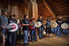Chinook Tribe Houses | Chinook Indians celebrate their Winter Gathering