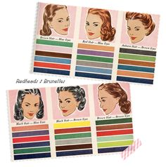 1947 ideas of a color palette based on your eye and hair color