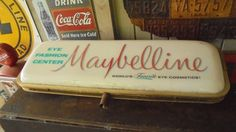 Vintage Very Rare Double Sided Maybelline Illuminated Sign c. 1959