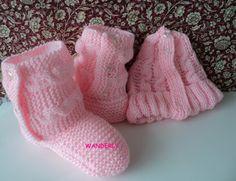 ** TRICO DA WANDERLY**: Bota de Lã em tricô Adulto  COM A RECEITA