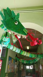 Chinese New year dragon New Year's Crafts, Diy And Crafts, Crafts For Kids, Arts And Crafts, Dragon Birthday, Dragon Party, Garden Projects, Art Projects, Garden Ideas