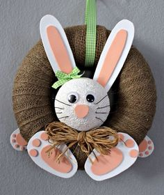 Bunny Crafts, Easter Crafts For Kids, Easter Bunny Decorations, Easter Wreaths, Spring Crafts, Holiday Crafts, Chicken Wire Crafts, Creation Crafts, Easter Party