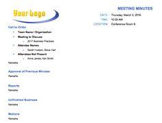 free meeting minute template word